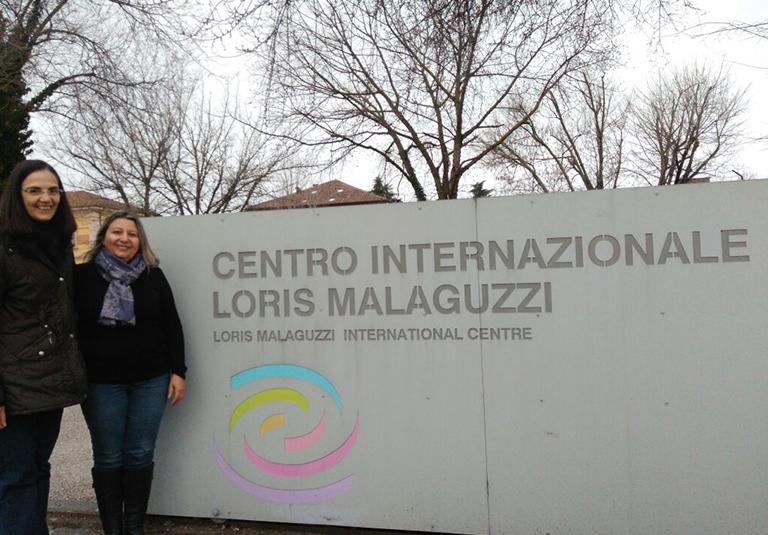 Diretora visita inovações pedagógicas em Reggio Emília, na Itália