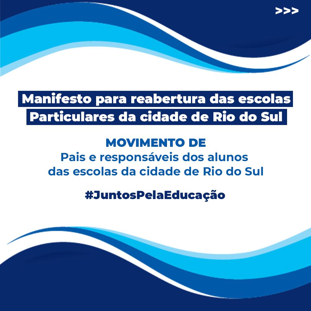 Saiba como apoiar o manifesto para a reabertura das escolas de Rio do Sul